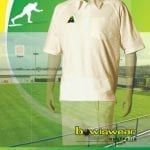 Mens Bowlswear Aust.  s/sleeve cream bowls polo