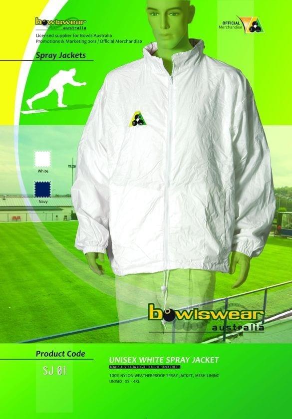 Unisex Bowlswear Aust. spray jacket