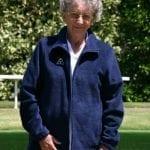 Ladies Domino lindsey fleece navy jacket