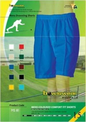 Mens Bowlswear Aust. elastic bowls shorts