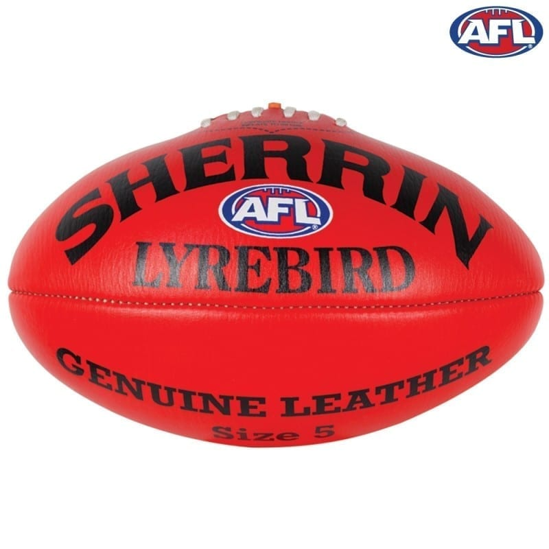 how to hold an afl ball