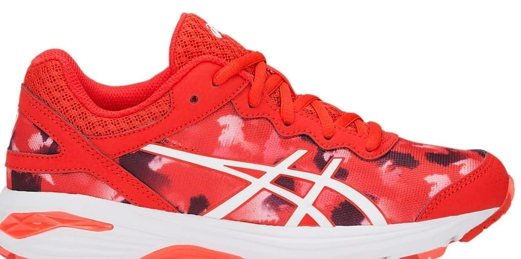 ASICS Gel Professional GS Fiery Red Junior Netball Trainers