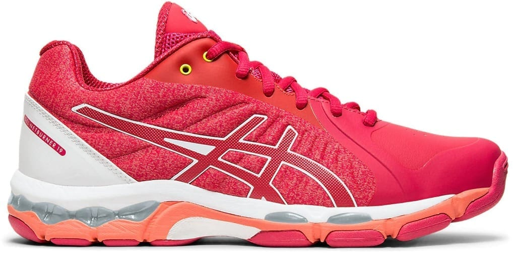 meilleur service f926d 992ad Asics Gel Netburner 19 D width ladies shoes (Rose Petal/White)
